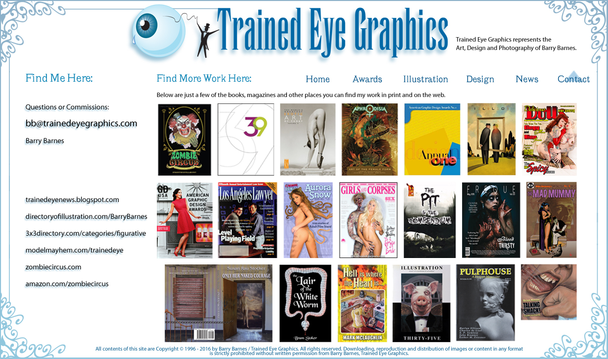 New Trained Eye Graphics web site coming soon. See Blog for latest updates: http://trainedeyenews.blogspot.com/